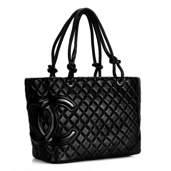 7A Discount Chanel Cambon Large Shoulder Bags 25169 Black-Patent