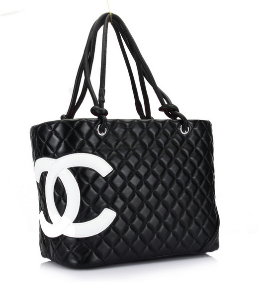 7A Discount Chanel Cambon Large Shoulder Bags 25169 Black-White
