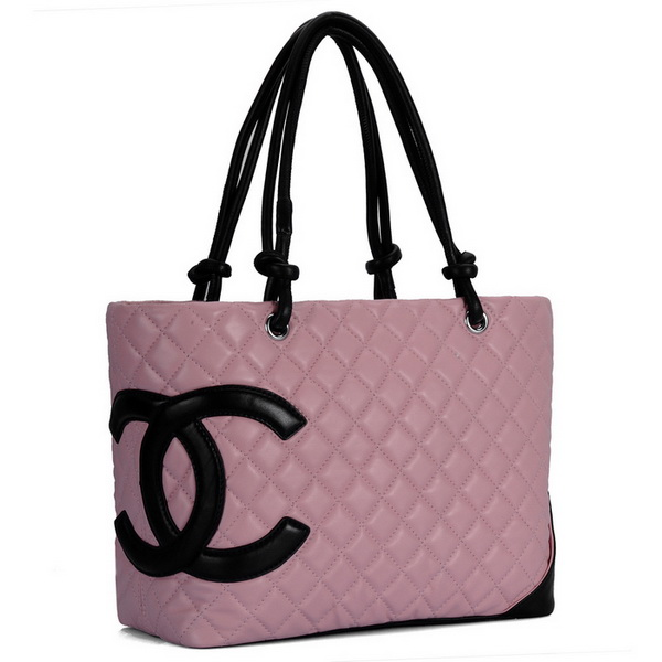 7A Discount Chanel Cambon Large Shoulder Bags 25169 Pink-Black