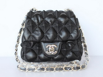 7A Discount Chanel Cambon Quilted Lambskin Hobo Bag 46889 Black