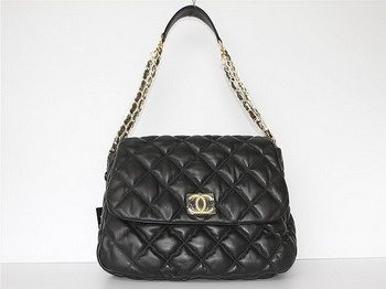 7A Discount Chanel Cambon Quilted Lambskin Hobo Bag 46956 Black