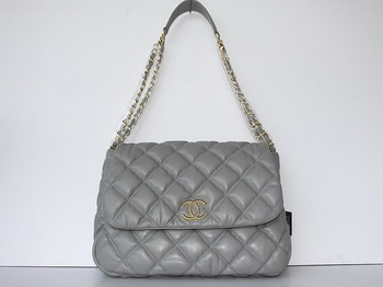 7A Discount Chanel Cambon Quilted Lambskin Hobo Bag 46956 Grey