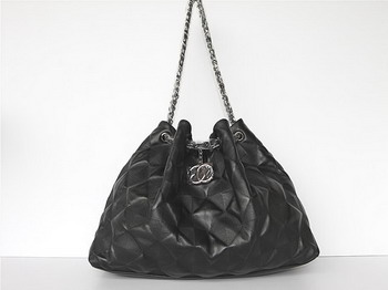 7A Discount Chanel Cambon Quilted Lambskin Shoulder Bags 46981 Black