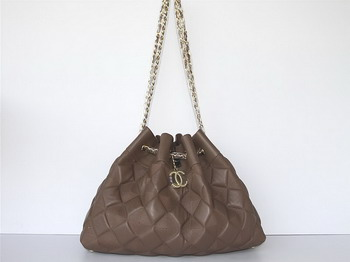 7A Discount Chanel Cambon Quilted Lambskin Shoulder Bags 46988 Coffee