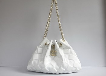 7A Discount Chanel Cambon Quilted Lambskin Shoulder Bags 46988 White
