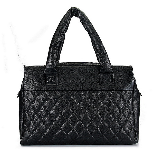 7A Discount Chanel Cambon Bags Black Caviar Leather 3321