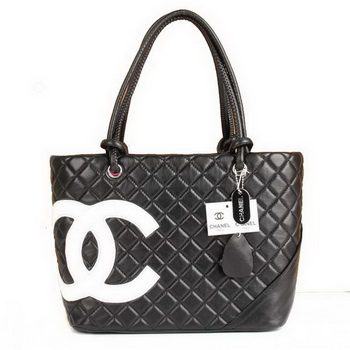 7A Discount Chanel Cambon White CC A25169 Black Shoulder Bags