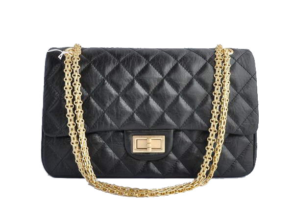 AAA Cheap Chanel Jumbo Flap Bags A28668 Black Golden On Sale