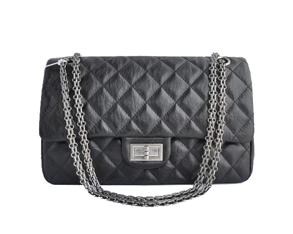 AAA Cheap Chanel Jumbo Flap Bags A28668 Black Silver On Sale