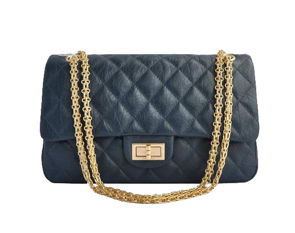 AAA Cheap Chanel Jumbo Flap Bags A28668 Blue Golden On Sale