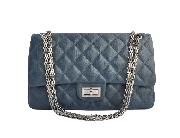 AAA Cheap Chanel Jumbo Flap Bags A28668 Blue Silver On Sale