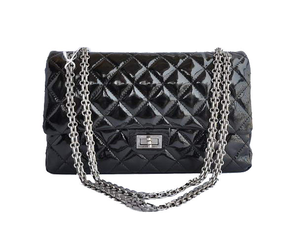AAA Cheap Chanel Jumbo Flap Bags A30226 Black Patent Silver On Sale