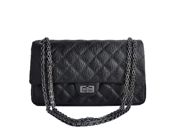 AAA Cheap Chanel Jumbo Flap Bags A30226 Black Silver On Sale
