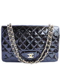 AAA Cheap Chanel Jumbo 2.55 Series Flap Bag A47600 Black Golden On Sale
