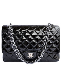 AAA Cheap Chanel Jumbo 2.55 Series Flap Bag A47600 Black Silver On Sale