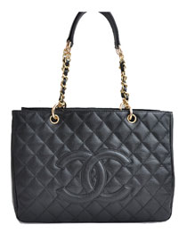 AAA Cheap Chanel Classic CC Shopping Bag A20995 Black Lambskin Golden On Sale
