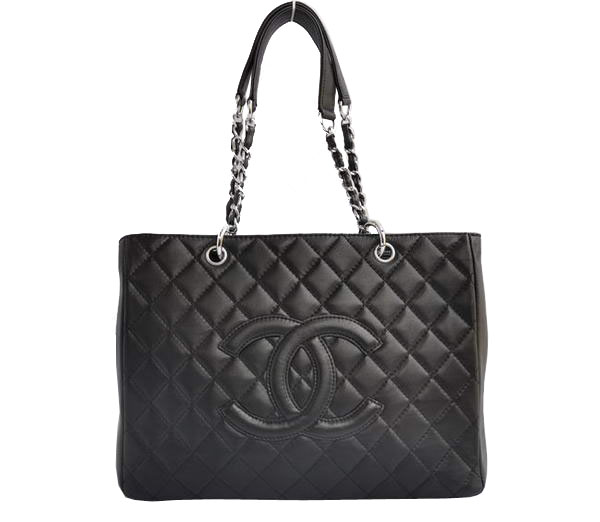 AAA Cheap Chanel Classic CC Shopping Bag A20995 Black Lambskin Silver On Sale