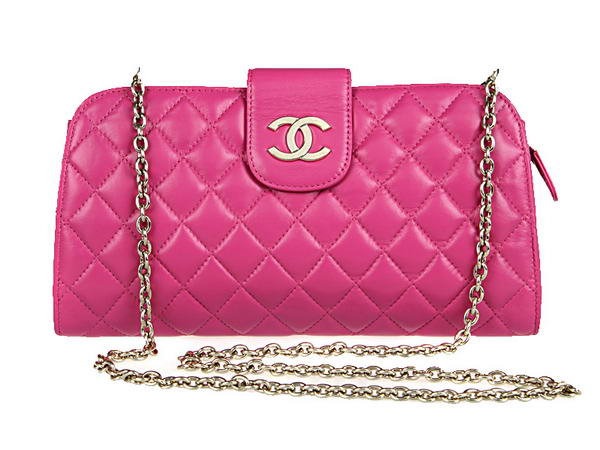 Fake Chanel A20163 Rosy Lambskin Leather Cluth Bag On Sale