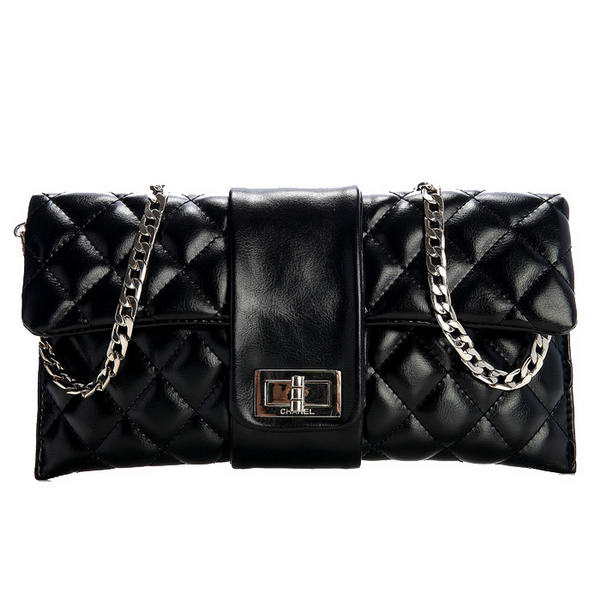 Fake Chanel Camelia Bag Sheepskin Leather A35412 Black On Sale