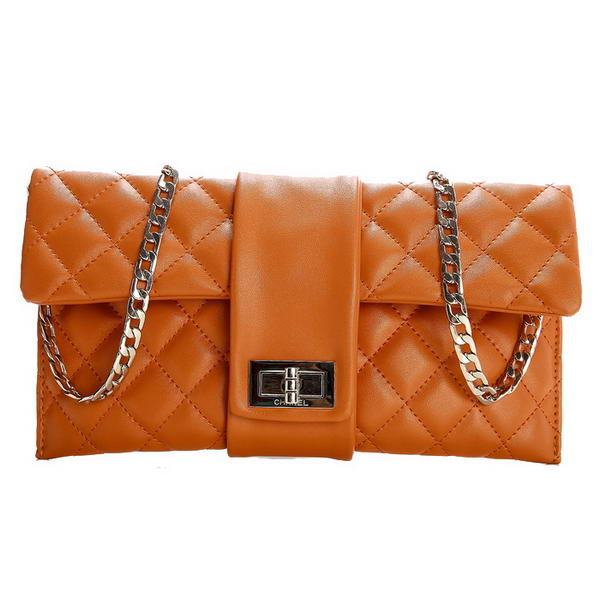 Fake Chanel Camelia Bag Sheepskin Leather A35412 Orange On Sale