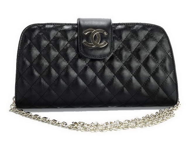 Fake Chanel Lambskin Leather Cluth Bag A30124 Black On Sale