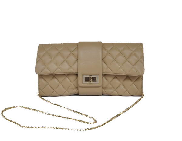 Fake Chanel Mademoiselle Turnlock Clutch Bags 2253 Apricot On Sale