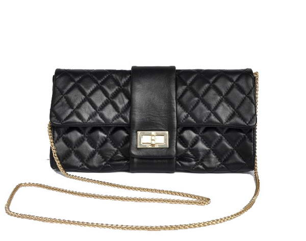 Fake Chanel Mademoiselle Turnlock Clutch Bags 2253 Black On Sale