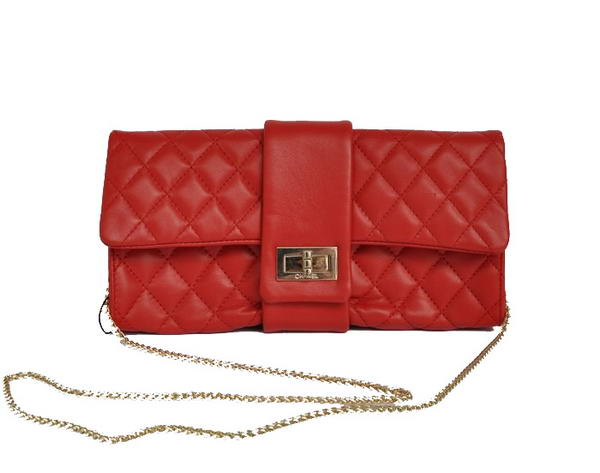 Fake Chanel Mademoiselle Turnlock Clutch Bags 2253 Red On Sale