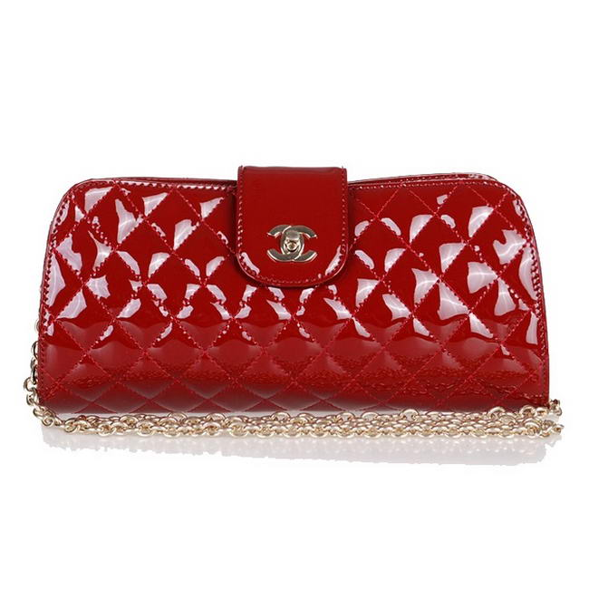 Fake Chanel Patent Leather Cluth Bag A30124 Red On Sale