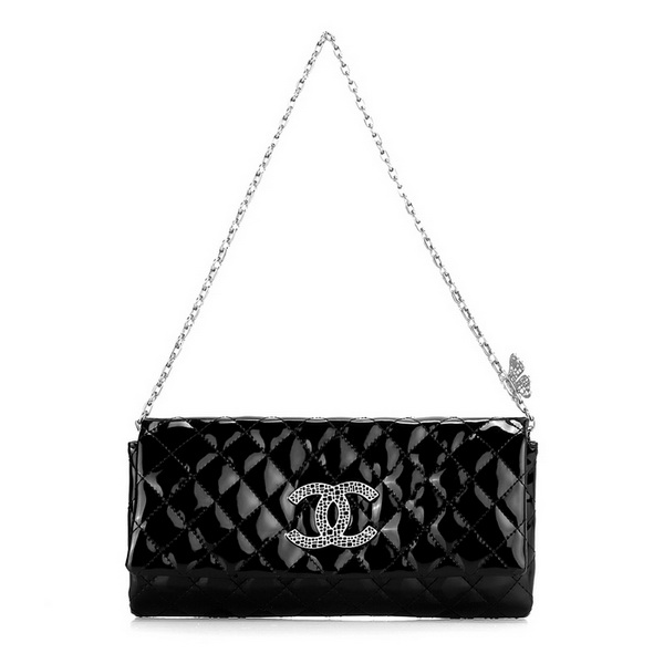 7A Replica Chanel Classic Flap Bag A3338 Black Patent Leather