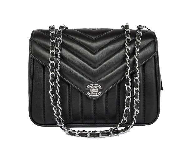 7A Replica Cheap Chanel Sheepskin Leather Flap Bag A36062 Black Silver Hardware