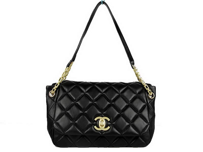 7A Replica Chanel A50360 Lambskin Leather Flap Bags Black