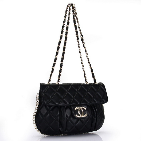 7A Replica Chanel Classic Flap Bag Black Leather 3324