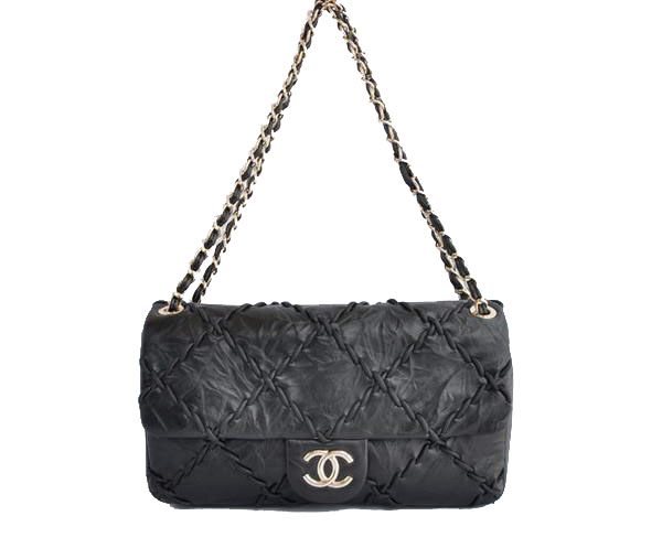 7A Replica Cheap Chanel Classic Perforated Flap Bag A49722 Black