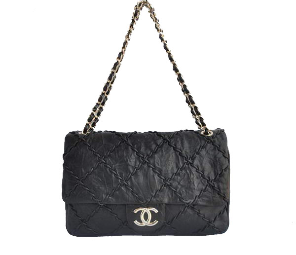 7A Replica Cheap Chanel Classic Perforated Flap Bag A49721 Black