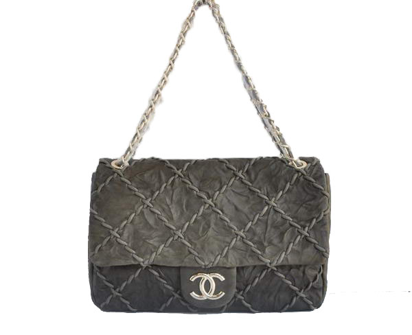 7A Replica Cheap Chanel Classic Perforated Flap Bag A49721 Khaki