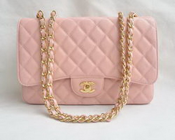 7A Replica Chanel Jumbo A28600 Pink Caviar with Golden Hardware Flap Bags