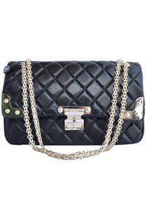 7A Replica Cheap Chanel Lambskin Leather Flap Bag 4705 Black