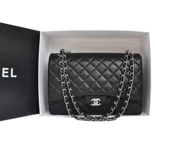 7A Replica Chanel Original Leather Jumbo Flap Bag A47600 Black