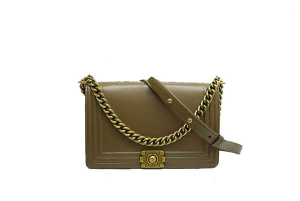 7A Fashion Chanel A30259 Dark Green Leather Le Boy Flap Shoulder Bag Online