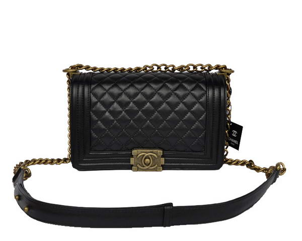 7A Hot Sell Chanel A67086 Black Le Boy Flap Shoulder Bag Distressed Online