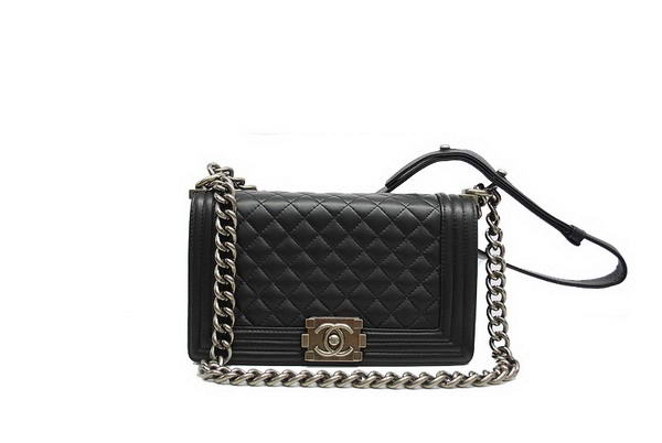 7A Chanel Boy Flap Shoulder Bag A30172 Black Sheepskin Leather Online