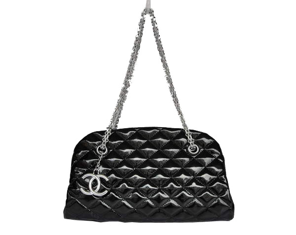 Best 2011 New Cheap Chanel Patent Leather Shoulder Bag 4709 Black On Sale