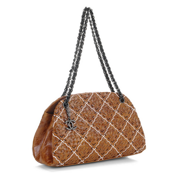 Best Chanel Perforated Lambskin Shoulder Bags A50321 Coffee-Multi On Sale