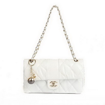 Best Chanel Flap Shoulder Bag 09189 White On Sale