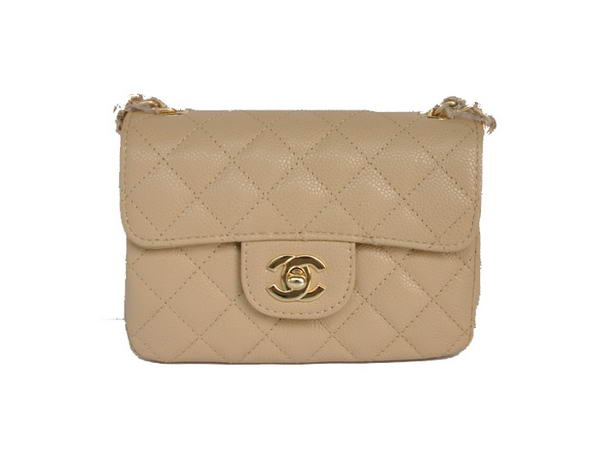 Best Chanel 2.55 mini Flap Bag 1115 Beige Sheepskin Golden Hardware On Sale