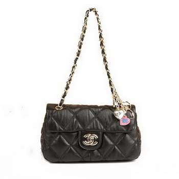 Best Chanel Bubble Lambskin Leather Flap Bag 4696 Black On Sale