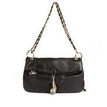 Best Chanel Flap Shoulder Bag 4698 Black On Sale