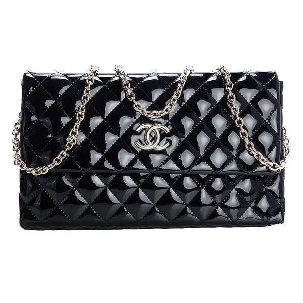 Best Chanel A30127 Patent Leather Shoulder Flap Bag Black On Sale