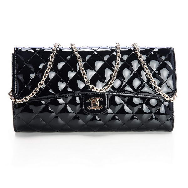 Best Chanel A30128 Patent Leather Flap Bag Black On Sale